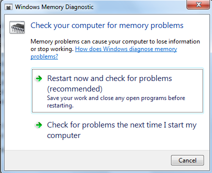 Windows Memory Diagnostic : Test your computer RAM for errors
