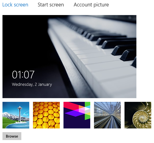 Fix : Unable to change Lock screen Picture / stuck user account picture in Windows 8
