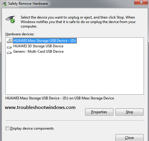 Fix: Safely remove hardware icon missing / dialog box not showing in Windows 7 , Vista