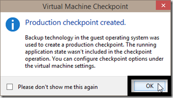 Windows 10 : How to create a checkpoint