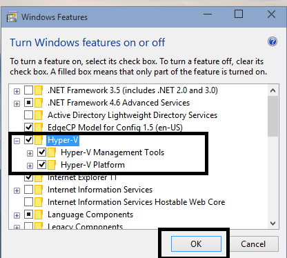 How to enable Hyper-V in Windows 10 TP