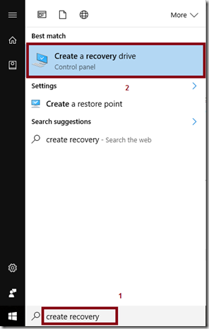 How to Create a Windows 10 Recovery USB