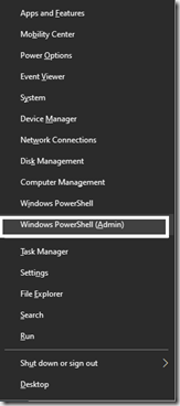 How to replace PowerShell (Admin) with command prompt in Winlogo + X