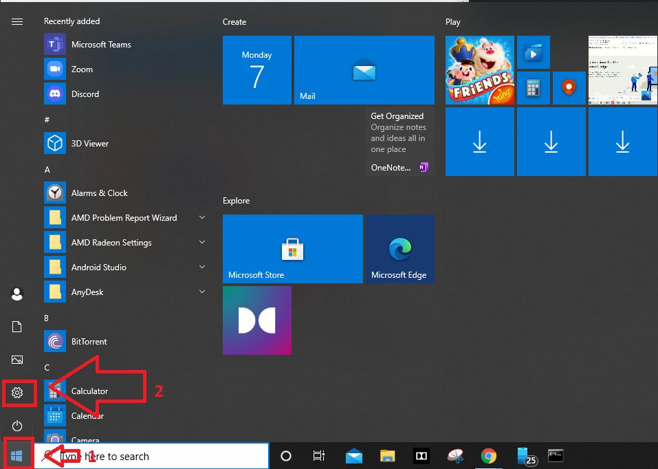 Launch-Settings-from-Taskbar-Windows10